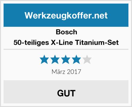 Bosch 50-teiliges X-Line Titanium-Set Test