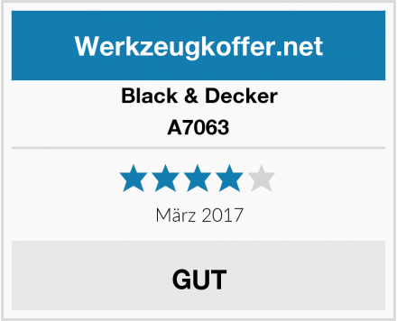 Black & Decker A7063 Test