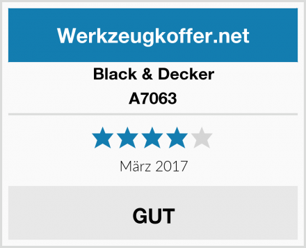 Black & Decker A7063 Test