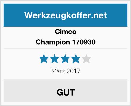 Cimco Champion 170930 Test