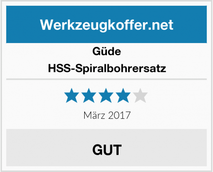 Güde HSS-Spiralbohrersatz Test