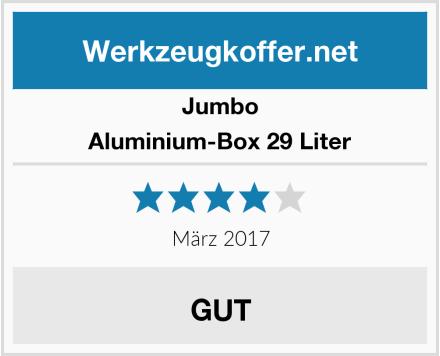 Jumbo Aluminium-Box 29 Liter Test