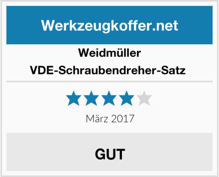 Weidmüller VDE-Schraubendreher-Satz  Test