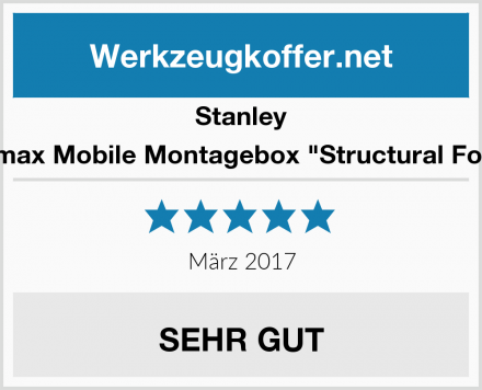 "Stanley Fatmax Mobile Montagebox ""Structural Foam"" Test"