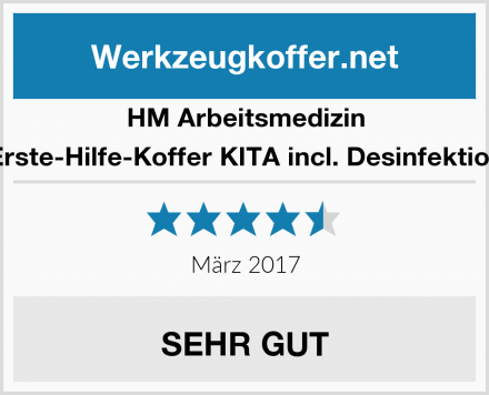 HM Arbeitsmedizin Erste-Hilfe-Koffer KITA incl. Desinfektion Test