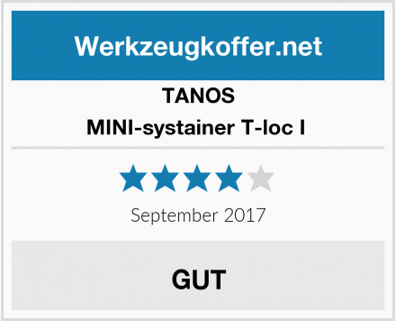 TANOS MINI-systainer T-loc I  Test