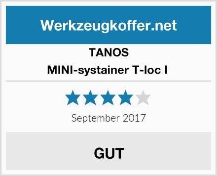 TANOS MINI-systainer T-loc I  Test