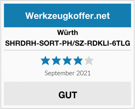 Würth SHRDRH-SORT-PH/SZ-RDKLI-6TLG Test