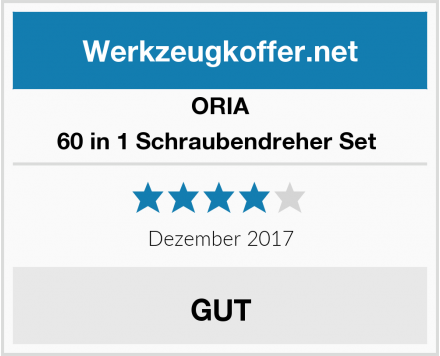 ORIA 60 in 1 Schraubendreher Set  Test