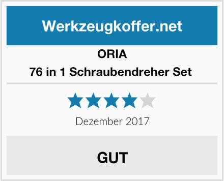 ORIA 76 in 1 Schraubendreher Set  Test