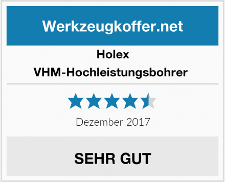 Holex VHM-Hochleistungsbohrer  Test