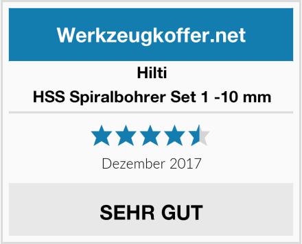 Hilti HSS Spiralbohrer Set 1 -10 mm Test