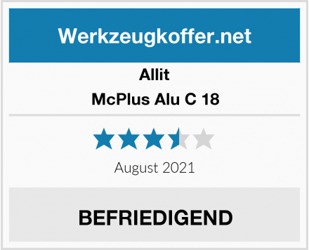 Allit McPlus Alu C 18 Test