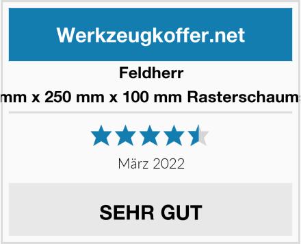 Feldherr 500 mm x 250 mm x 100 mm Rasterschaumstoff Test