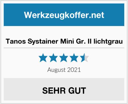 No Name Tanos Systainer Mini Gr. II lichtgrau Test