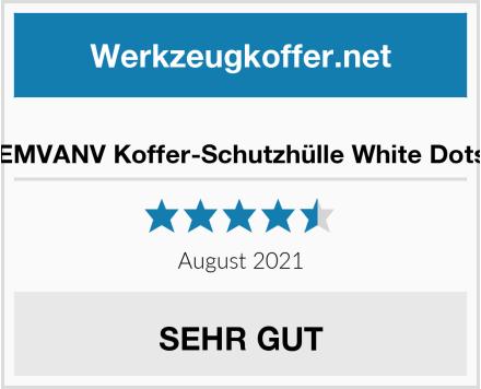 EMVANV Koffer-Schutzhülle White Dots Test