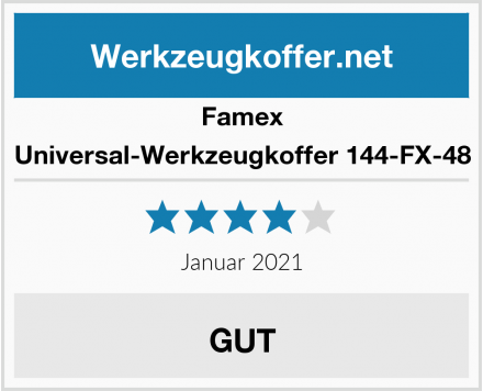 Famex Universal-Werkzeugkoffer 144-FX-48 Test