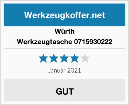 Würth Werkzeugtasche 0715930222 Test