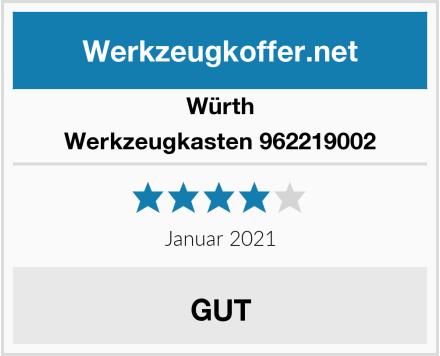 Würth Werkzeugkasten 962219002 Test