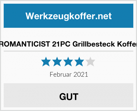 ROMANTICIST 21PC Grillbesteck Koffer Test