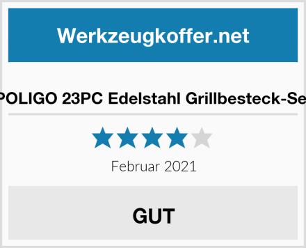 POLIGO 23PC Edelstahl Grillbesteck-Set Test
