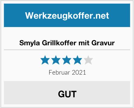 Smyla Grillkoffer mit Gravur Test