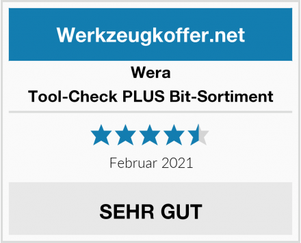Wera Tool-Check PLUS Bit-Sortiment Test