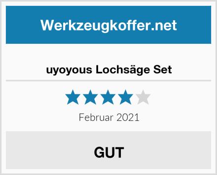 uyoyous Lochsäge Set Test