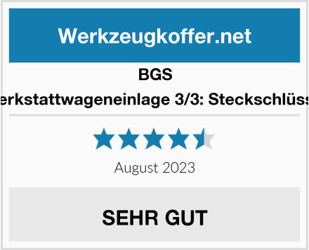 BGS 4036 Werkstattwageneinlage 3/3: Steckschlüssel-Satz Test