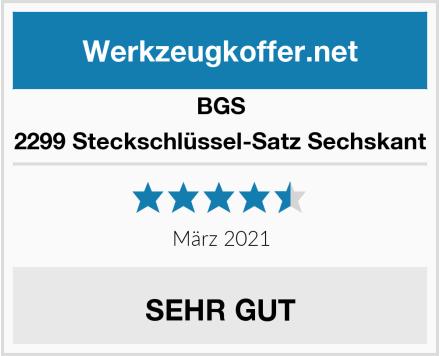 BGS 2299 Steckschlüssel-Satz Sechskant Test