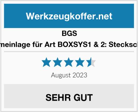 BGS 3351 Schaumeinlage für Art BOXSYS1 & 2: Steckschlüssel-Satz Test