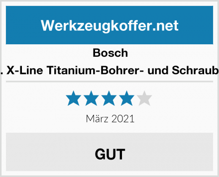 Bosch 103tlg. X-Line Titanium-Bohrer- und Schrauber-Set Test