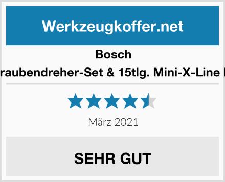 Bosch 46tlg. Schraubendreher-Set & 15tlg. Mini-X-Line Mixed-Set Test