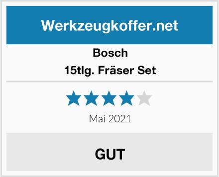 Bosch 15tlg. Fräser Set Test