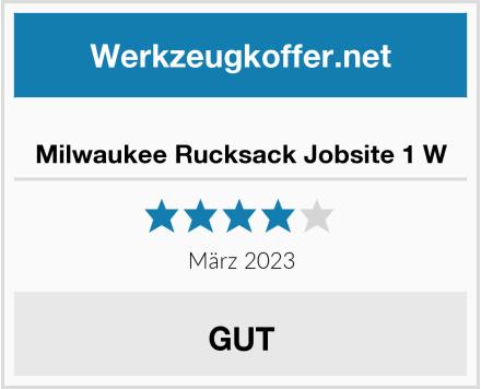 Milwaukee Rucksack Jobsite 1 W Test