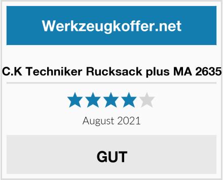 C.K Techniker Rucksack plus MA 2635 Test