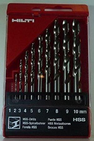 Hilti HSS Spiralbohrer Set 1 -10 mm