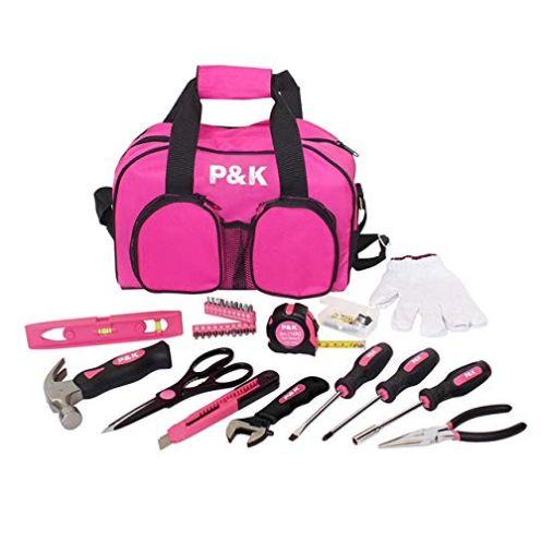 P&K 77 Teiliges Werkzeugset Pink